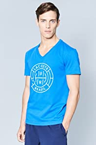 Men's Rio Dyed Jersey Graphic V-Neck Tee
