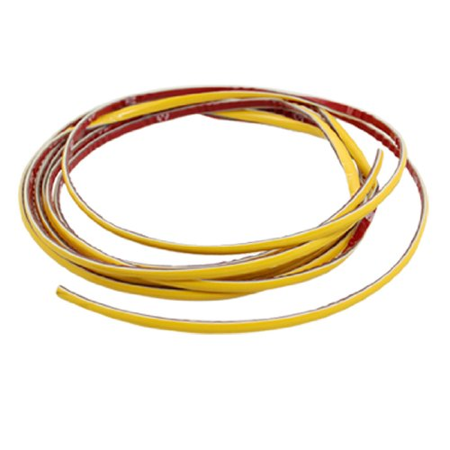 Car Auto 3 Meters Long 4Mm Wide Moulding Trim Strip Yellow