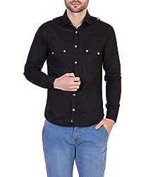 Threadikshion Men's casual shirt tdnbc02_Black_Medium