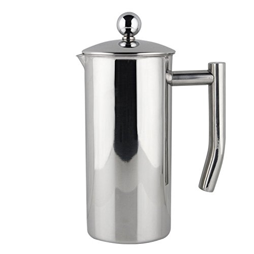 Francois et Mimi Single-Wall French Coffee Press, 34-Ounce, Stainless Steel