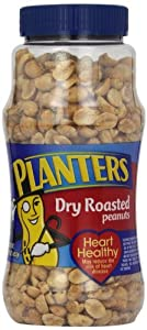 Planters Peanuts, Dry Roasted, 16 Ounce Jars (Pack of 2)