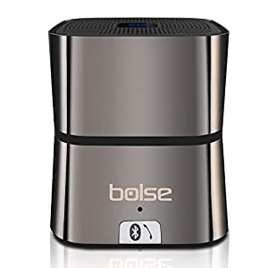Bolse 5W Portable Mini Bluetooth v4.0 Wireless Speaker (One Large 45MM 5W Driver), 10 Hour Playtime, Home Speakers, Wireless Cell Phone Car Speakerphones, Computer Speakers, For iPhone, iPad, Tablet, PC, Smartphones