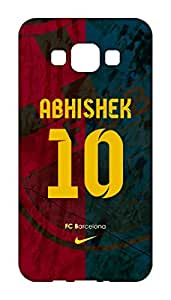 Customised Barcelona Football Club Desing mobile case for Samsung Galaxy A8 - Hard Case Back Cover - Printed Designer - FCB BARCA - SGA8BRCMIDCST20
