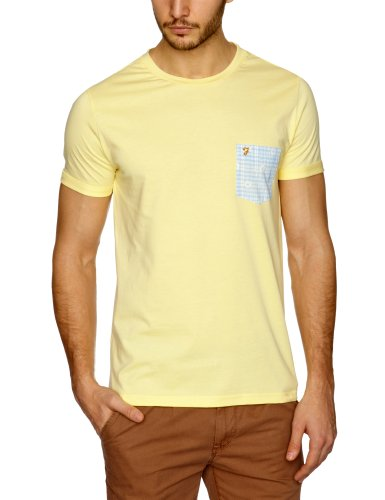 Farah Vintage The Trinity Men's T-Shirt Buttercup Medium