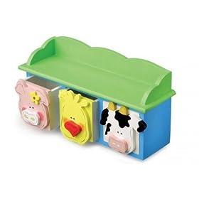 Child Animal Wooden Shelf Storage Box