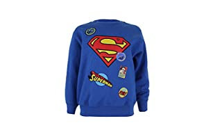 DC COMICS Sudadera Superman Badge (Azul Royal)