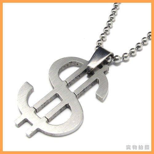 (キチシュウ)Aooazジュエリー メンズステンレスペンダントネックレス お金のドルデザイン シルバー 高品質アクセサリー