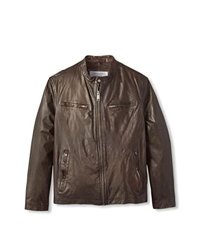 Andrew Marc Men's Vernon Leather Moto Jacket