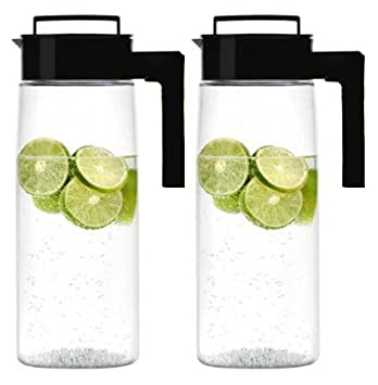 Takeya Airtight Drink Maker Pitcher / Jug, Set of Two (Black)