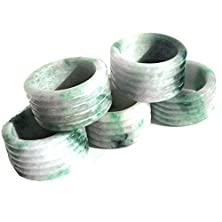 buy Karatgem Jadeite Jade Ring 8-10 Mm Wide Thumb Ring Extra Size ฺ(12.25) Bigjr (12.25)