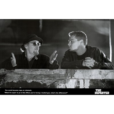 The Departed Movie (Jack Nicholson & Leonardo DiCaprio) Poster Print - 24x36