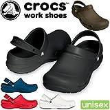 クロックス ビストロ crocs bistro 10075 クロックス ワークシューズ crocs work shoes 厨房用シューズ unisex 通販 1-ブラック M6-W8(24.0)