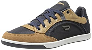 Diesel Men's Eastcop Starch Fashion Sneaker, India Ink/Tobacco Brown, 12 M US