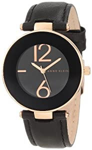 Anne Klein Women's AK/1064RGBK Rose Gold Tone Watch