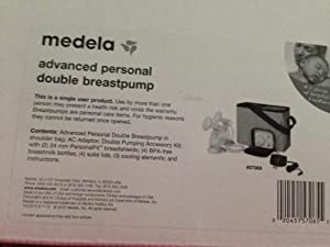 Medela Advanced Personal Double Electric Breastpump Model #57065