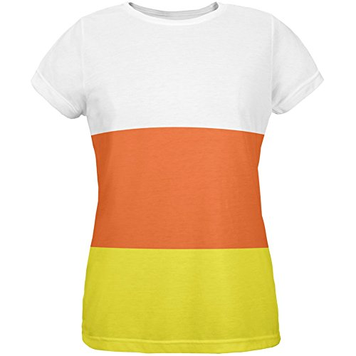 Halloween Candy Corn Costume All Over Womens T-Shirt - Small (Candy Corn Costume compare prices)