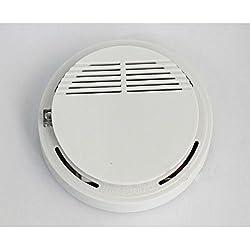 Wireless Smoke Detector Home Safety Sensitive Heat Fire Alarm Sensor White