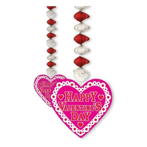 Valentine Danglers Party Accessory (1 count) (2/Pkg)
