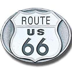 Pewter Belt Buckle - Route 66 - Pewter Belt Buckle