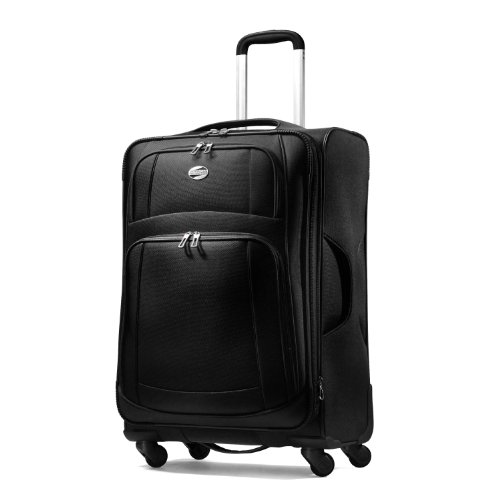 American Tourister Luggage Ilite Supreme 25 Inch Spinner Suitcase, Black, 25 Inch special offers