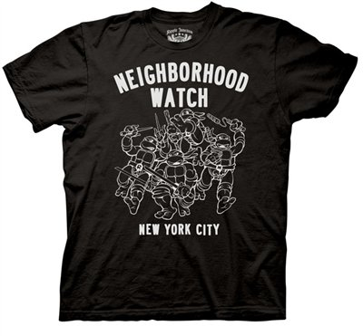 : TMNT Neighborhood Watch Mens T-shirt