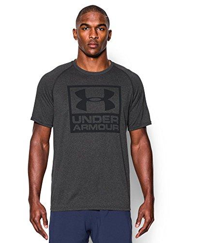 Under Armour Men's UA Tech Boxed Logo T-Shirt Medium Carbon Heather