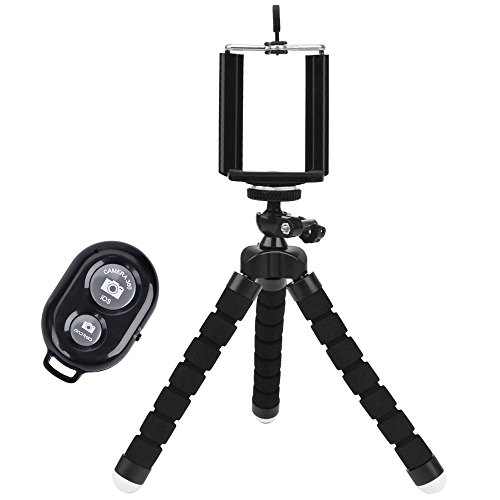 LSoug-Universal-Compact-Tripod-Stand-Remote-Included-Flexible-Octopus-Cell-Phone-Camera-Selfie-Stick-Tripod-Mount-for-Smartphone-Digital-Camera-GoPro-Hero