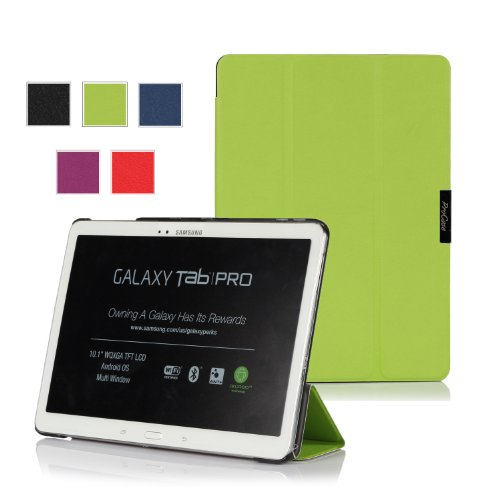 Procase Samsung Galaxy Tab Pro 10.1 Tablet Case - Slimsnug Hard Shell Stand Cover Case For Galaxy Tabpro 10.1 Inch Sm-T520,T525 (Green)