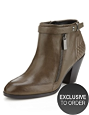 Autograph Leather Outside Zip Biker Boots with Insolia®