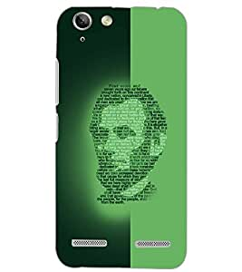 PrintDhaba FACE QUOTE D-6625 Back Case Cover for LENOVO A6020a46 (Multi-Coloured)