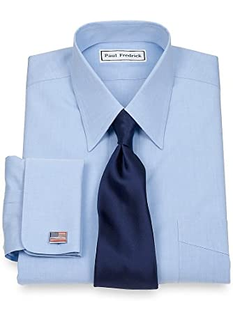 Paul Fredrick Men 39 S Non Iron 2 Ply 100 Cotton Straight: straight collar dress shirt