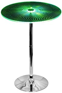 LumiSource Spyra LED Light-Up Bar Table