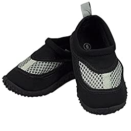 Infant Toddler Unisex Water Sand and Swim Shoes by Iplay,5 M US Toddler,Black