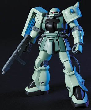 Bandai 1/144 HGUC High Grade MS-06F-2 Zaku II F2 Zeon Ver. Gundam Model Kit