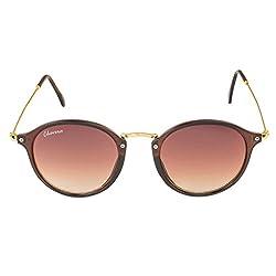 Chevera Voguish Round Brown Sunglasses