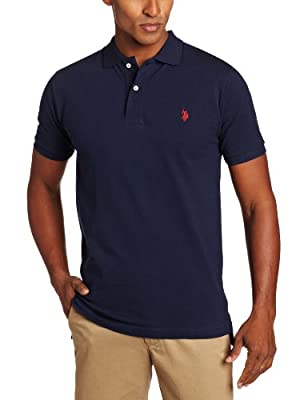 U.S. Polo Assn. Men's Solid Polo With Small Pony, Classic Navy, Medium