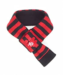 Red & Black Doggy Scarf from K9 by Igloo Designs - small (28-38cm neck size)