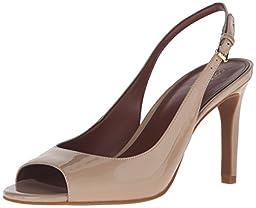 Cole Haan Women\'s Juliana Open Toe Sling Dress Sandal, Maple Sugar, 6.5 B US