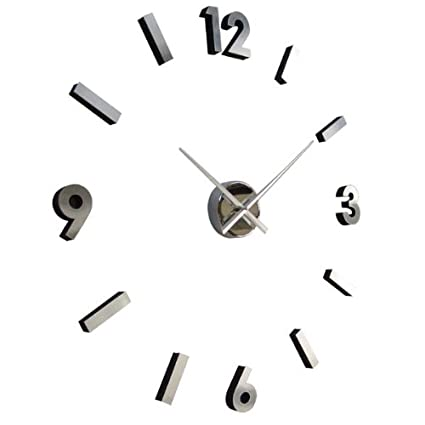 Amazon.com – Do It Yourself Aluminum Clock (30″) – Numbers – Wall Clock Sticky Digits
