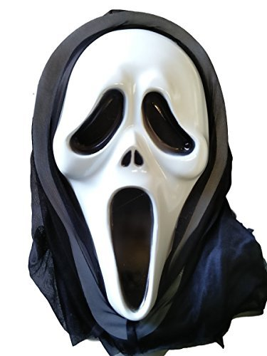 12x Budget Halloween Scream Mask With Hood- Ghost/ Grim Reaper- Job lot/ Wholesale