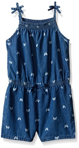The Children's Place Toddler Girls Romper, Chambray, 3T