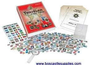 Harris Worldwide Traveler Stamp Album Collecting Kit