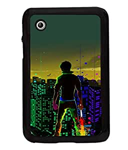 printtech Hero Kid Save City Back Case Cover for Samsung Galaxy Tab 2 7.0 P3100 , Samsung Galaxy Tab 2 (7.0)