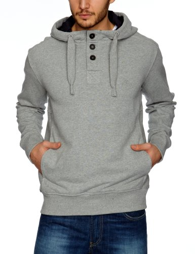 Timberland Clothing 1/2 Btn Hooded Men's Sweatshirt Medium Grey Heather (MGH) Medium