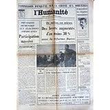 HUMANITE (L') du 03/11/1976 - COMMISSION D'ENQUETE SUR LA CHASSE AUX SORCIERES - ELECTIONS AMERICAINES - AUGMANTATION...