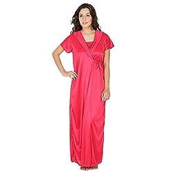 Klamotten Cherry Long Satin Robe X223