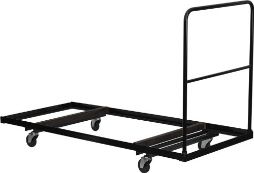 Black Steel Folding Table Dolly for 30x72 Rectangular Foldin