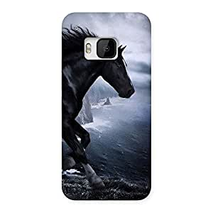 Gorgeous Premier Black Horse Back Case Cover for HTC One M9