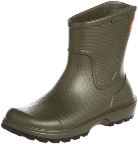 crocs - Stivali di gomma Wellie Rain Boot M, Uomo, Verde (Army), 42-43