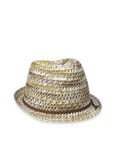 STEVE MADDEN Women's Stacey Tonal Fedora Hat, Nat